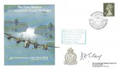 1988 The Dam Busters 617 Squadron Royal Air Force 45th Anniversary of the Dams Raid Cambridge Stamp Centre Cover, Dam Busters Reunion 617 Squadron Derwent Dam Keswick H/S, Signed Jim Clay DFC