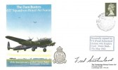 1988 The Dam Busters 617 Squadron Royal Air Force 45th Anniversary of the Dams Raid Cambridge Stamp Centre Cover, Dam Busters Reunion 617 Squadron Derwent Dam Keswick H/S, Signed Fred Sutherland