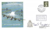 1988 The Dam Busters 617 Squadron Royal Air Force 45th Anniversary of the Dams Raid Cambridge Stamp Centre Cover, Dam Busters Reunion 617 Squadron Derwent Dam Keswick H/S, Signed Basil Feneron