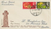 1965 Eyam Plague Tercentenary Last Day of Cancellation Cover, Eyam Plague Tercentenary Eyam Sheffield H/S