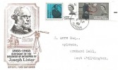 1965 Joseph Lister, Official Illustrated FDC, Pulborough Sussex cds