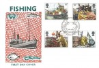 1981 Fishing, Historic Relics FDC, First Day of Issue Philatelic Bureau Edinburgh H/S