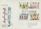 1981 Folklore, Philcovers FDC, Newarke Houses Museum St.Valentine's Day Cards Exhibition Leicester H/S