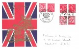 1969 QEII Set of 6 4d Red Regionals, Thames FDC, National Postal Museum H/S