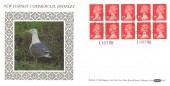 1988 QEII £1.90 Window Booklet, Benham D97 FDC, Windsor Philatelic Counter H/S