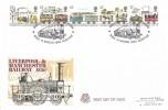 1980 Liverpool & Manchester Railway, Peter Scot FDC, Bressingham Steam Museum Diss Norfolk H/S