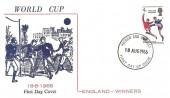 1966 England World Cup Winner FDC, Illustrated FDC, Harrow & Wembley FDI