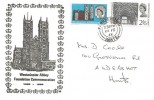 1966 Westminster Abbey, Illustrated FDC, Farnborough Hants. cds