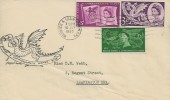 1958 Commonwealth Games Wales, Hand Illustrated Cover of a Welsh Dragon FDC, Warwick & Leamington Spa Cancel