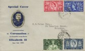 1953 Coronation Scarce Illustrated FDC, Hitchin Herts cds + Long Live the Queen Hitchin Herts on the back