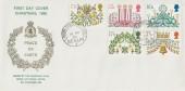 1980 Christmas, RAF Gatow Philatelic Club FDC, British Forces Post Office Berlin 3 cds