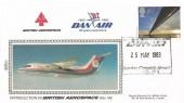 1983 Engineering, Benham British Aerospace Dan Air FDC, 16p stamp only, 30 Years Experience Dan Air London (Gatwick) Airport West Sussex H/S