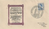 1957 Parliamentary Conference, R C King FDC, 46th Parliamentary Conference London SW1 H/S