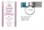 1965 Joseph Lister, National Fund for Research into Crippling Diseases FDC, London SW FDI