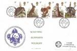 1977 British Wildlife, Scouting Supports Wildlife FDC, First Day of Issue Philatelic Bureau Edinburgh H/S