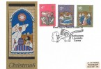 1970 Christmas, A J E Hole Embroidery FDC, First Day of Issue Bethlehem Llandeilo Carms. H/S
