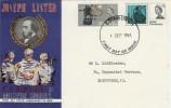 1965 Joseph Lister ordinary set with Edinburgh FDI FDC