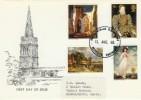 1968 British Paintings Parish Church Kettering Official FDC, Parish Church Restoration Kettering Northants. H/S