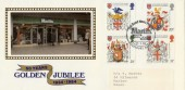 1984 Heraldry, Martins Newsagents Golden Jubilee Official FDC