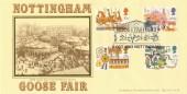 1983 British Fairs Bradbury LFDC 28 Official FDC, Goose Fair 1983 Nottingham H/S
