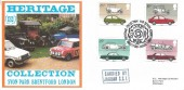 1982 British Motor Cars, Hawkwood Official FDC, Syon Park Brentford, Heritage Collection Car Design Exhibition Syon Park Brentford Middx H/S.