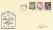 1963 First Scottish Regional Phosphor issue FDC