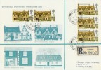 1970 British Rural Architecture Maximum Card, Bibury Cirencester cds FDC