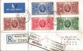 1935 KGV Registered Silver Jubilee Newport Mons. cds FDC