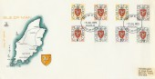 1973 Isle of Man Postage Dues First Printing Set 8 values ½p to 20p on FDC Scarce