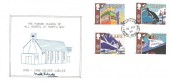 1988 Transport & Communications, The Parish Church of All Saints, St. Mary's Bay Golden Jubilee 1938 -1988 FDC, St. Mary's Bay Romney Marsh Kent cds