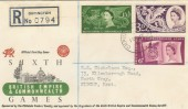 1958 Commonwealth Games Registered Illustrated cds FDC