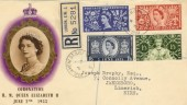 1953 Coronation Registered FDC with Parliament Street cds, Very Scarce.