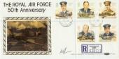 1986 RAF Benham BLCS17b Biggin Hill cds. Signed by Squadron Leader F J O'Flynn