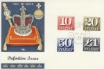 1970 10p, 20p, 50p, £1 Postage Dues on Philart FDC. VERY RARE