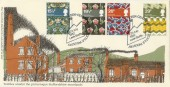 1982 British Textiles Staffordshire County Council Official Leek FDC