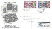 1960 Europa, Registered Illustrated FDC, Eastbourne Sussex cds