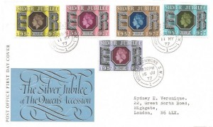 1977 Silver Jubilee Doubled Dated with 9p 15th June 1977, Post Office First Day Cover, House of Commons SW1 cds