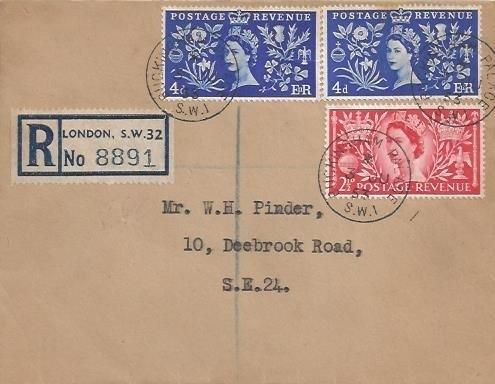 1953 SCARCE Coronation Registered Manila Royal Stationery FDC, Buckingham Palace SW1 cds, Royal Crest embossed on back flap