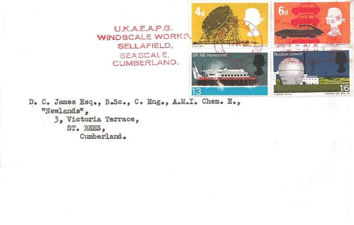 1966 British Technology, Plain First Day Cover U.K.A.E.A.P.G Windscale Works Sellafield Cumberland Post Paid Meter Meter