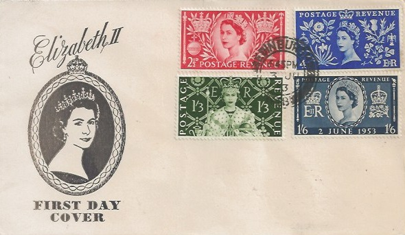 1953 Coronation, Illustrated First Day Cover, Edinburgh cds