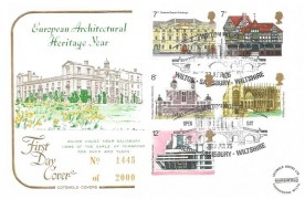 1975 European Architectural Heritage Year Cotswold Official FDC, Wilton House, Wilton, Salisbury, Wiltshire H/S