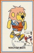 "1966 World Cup Winners. World Cup ""Willie"" Card. Harrow & Wembley FDI"