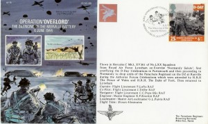 1994 D-Day Melville Battery Forces Official FDC, 50th Anniversary D-Day Landings The Silencing of the Melville Battery British Forces 2420 Postal Service H/S