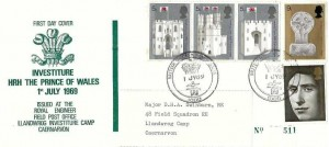 1969 Investiture, Scarce Royal Engineers Official FDC, BFPS 1000 H/S.