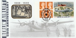 1999 Berlin Airlift, Benham BLCS156 Official FDC, 50th Anniversary of the Ending of the Berlin Airlift Watford H/S, Flown