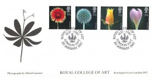 1987 Flowers, Royal College of Arts, Covercraft Official FDC,  Royal College of Arts London SW7 H/S
