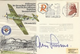 1975 RAF Hendon Museum German Cover, Signed by Adolf Galland, World War II Flying Ace