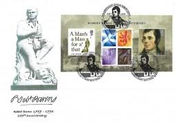 2009  Robert Burns, Lothian Postcard Club and Edinburgh Stamp Group Commemorative Cover, 250th Anniversary Birth of Robert Burns Alloway H/S