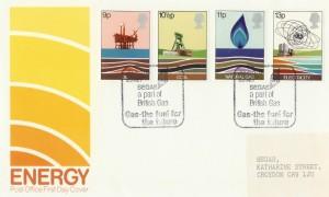 1978 Energy, PO FDC, Segas a Part of British Gas Croydon Surrey H/S