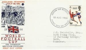 1966 England World Cup Winners, Philart FDC, Harrow & Wembley FDI